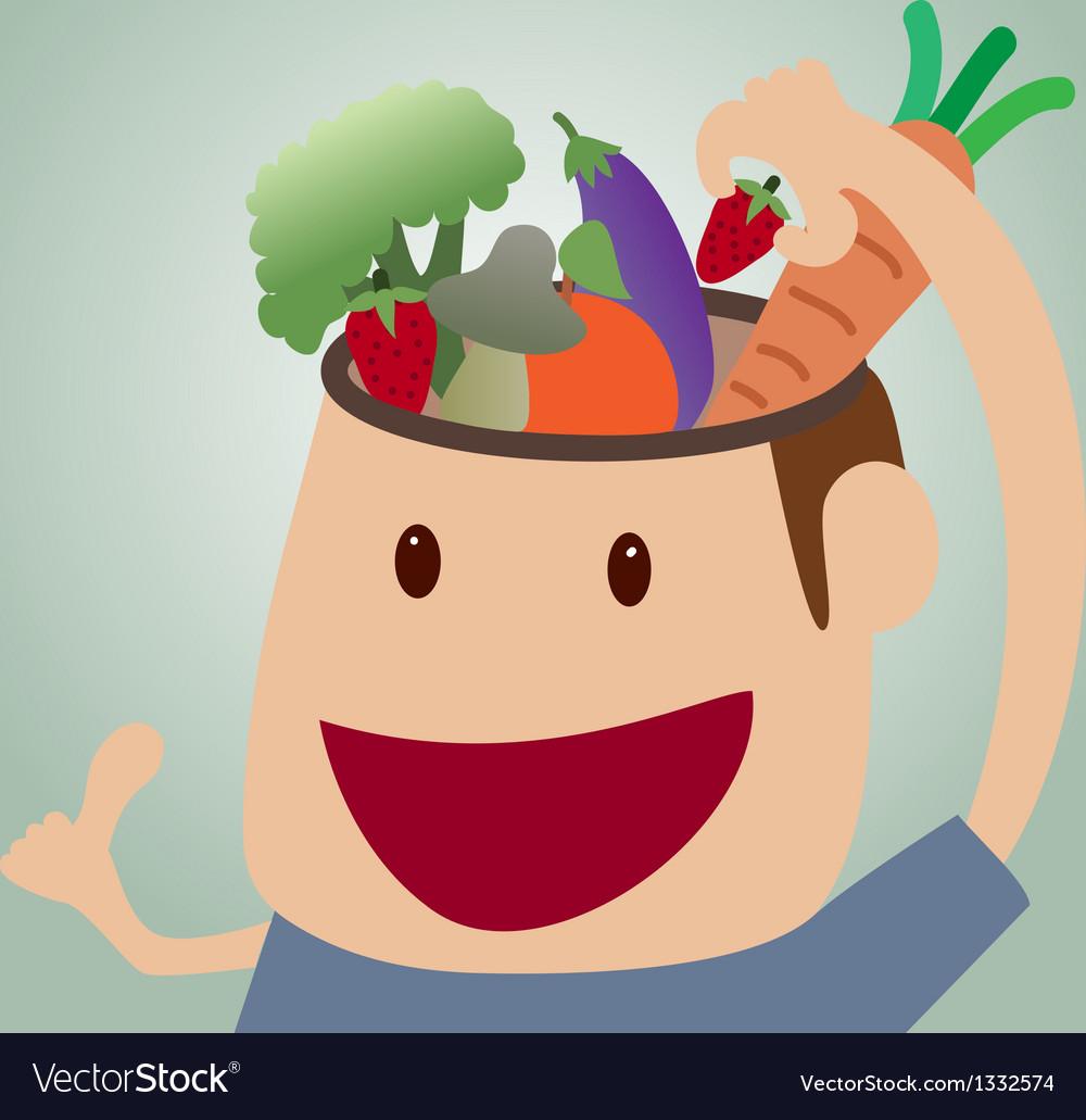 Brains food concept vector | Price: 1 Credit (USD $1)