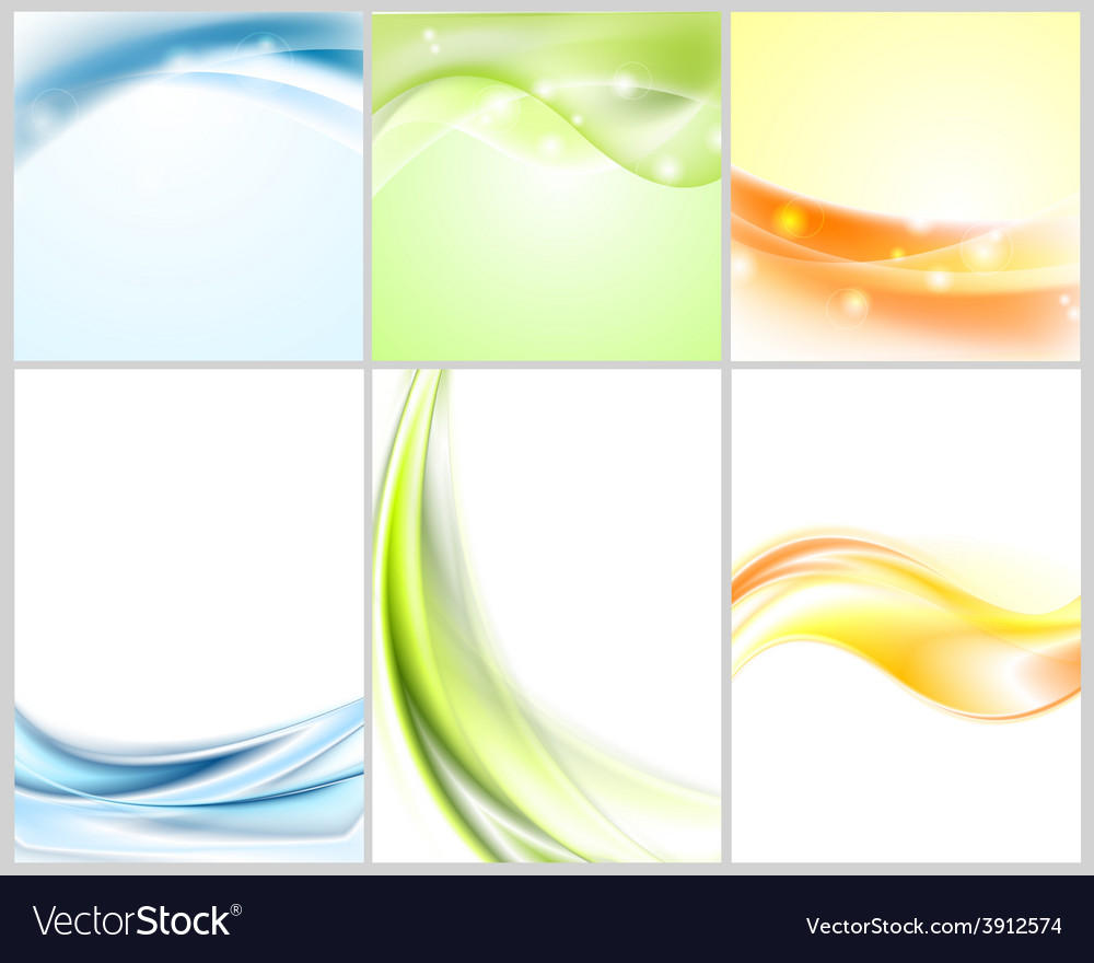 Bright shiny wavy backgrounds vector | Price: 1 Credit (USD $1)