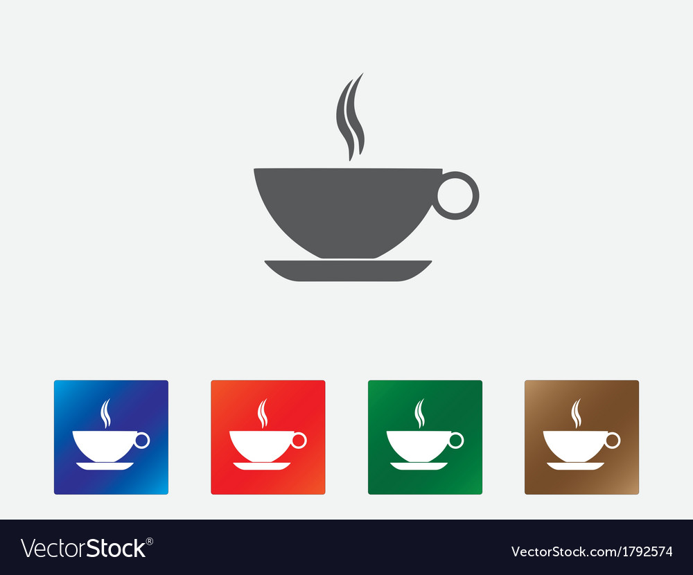 Coffee cup icons vector | Price: 1 Credit (USD $1)