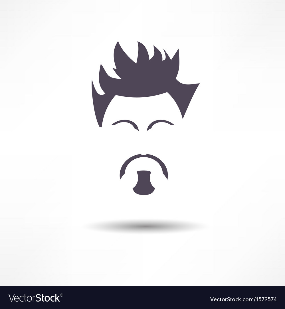 Face of a man with a beard vector | Price: 1 Credit (USD $1)