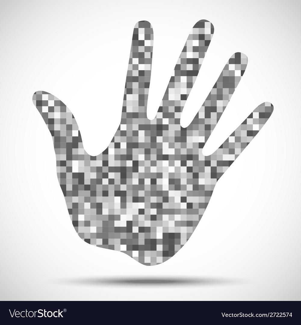 Hand print pixel texture vector | Price: 1 Credit (USD $1)