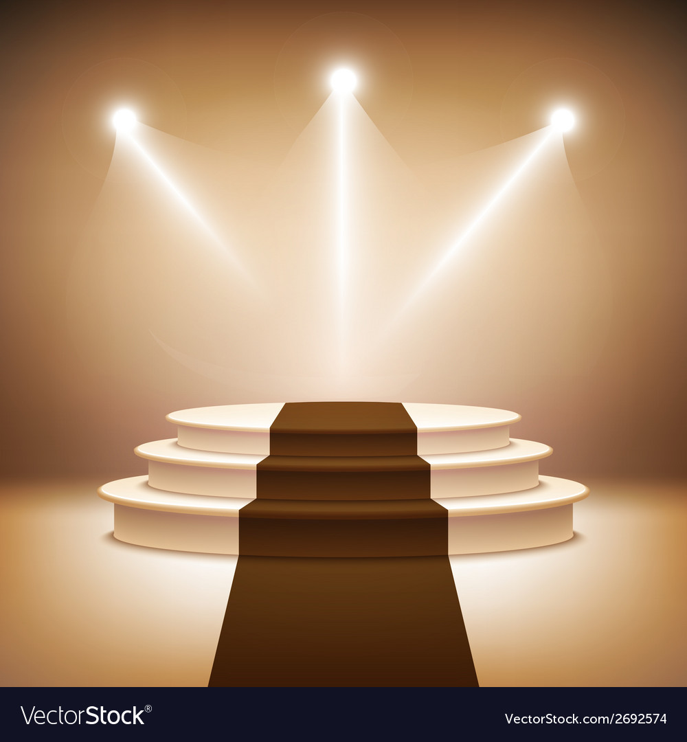 Illuminated stage podium vector | Price: 1 Credit (USD $1)