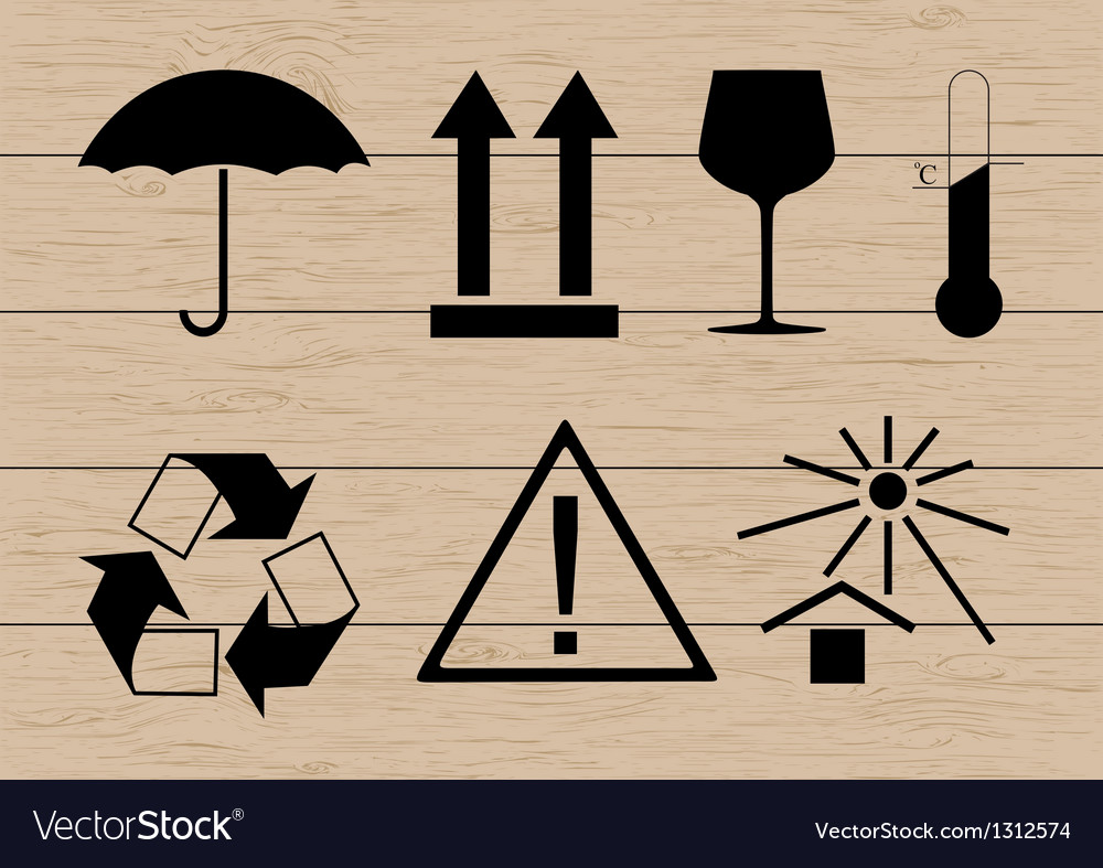 Packing symbols set vector | Price: 1 Credit (USD $1)