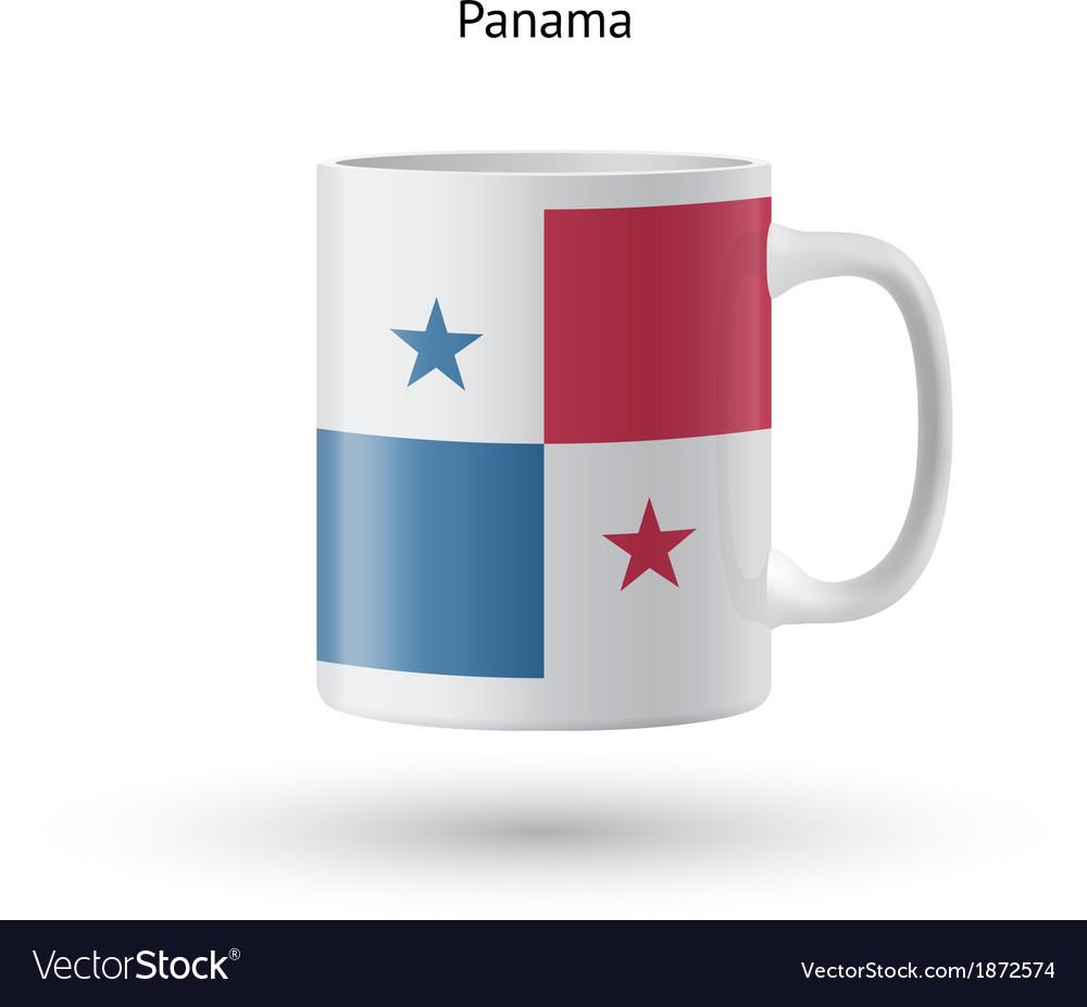 Panama flag souvenir mug on white background vector   Price: 1 Credit (USD $1)