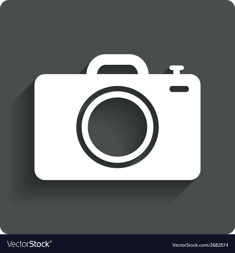 Photo camera sign icon photo symbol vector | Price: 1 Credit (USD $1)