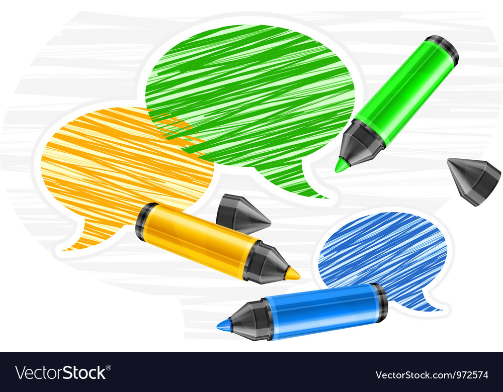 Scribbled speech bubles vector | Price: 1 Credit (USD $1)