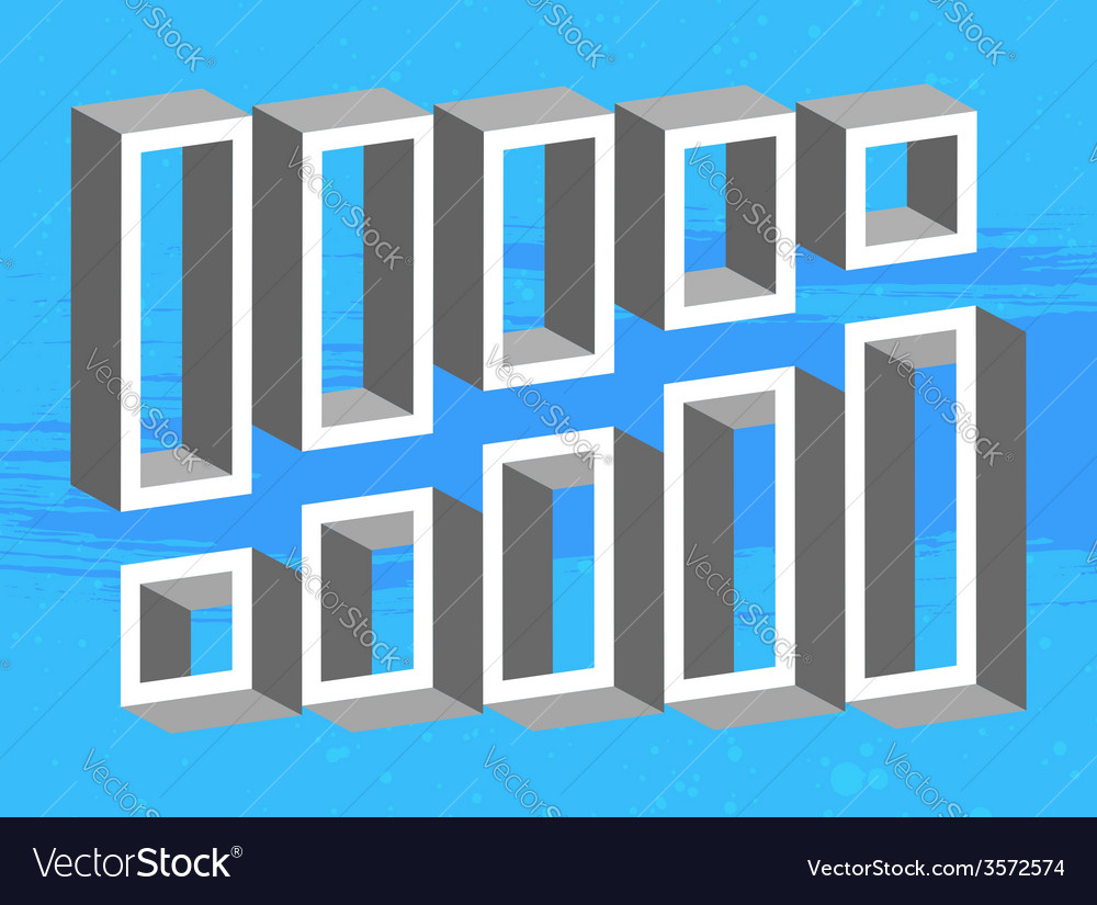 Set of 3d shelves vector | Price: 1 Credit (USD $1)