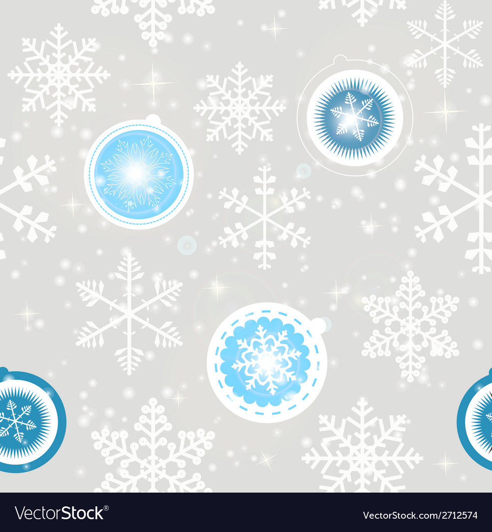 Winter christmas new year seamless pattern vector | Price: 1 Credit (USD $1)
