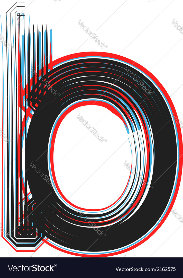 Abstract font letter b vector | Price: 1 Credit (USD $1)