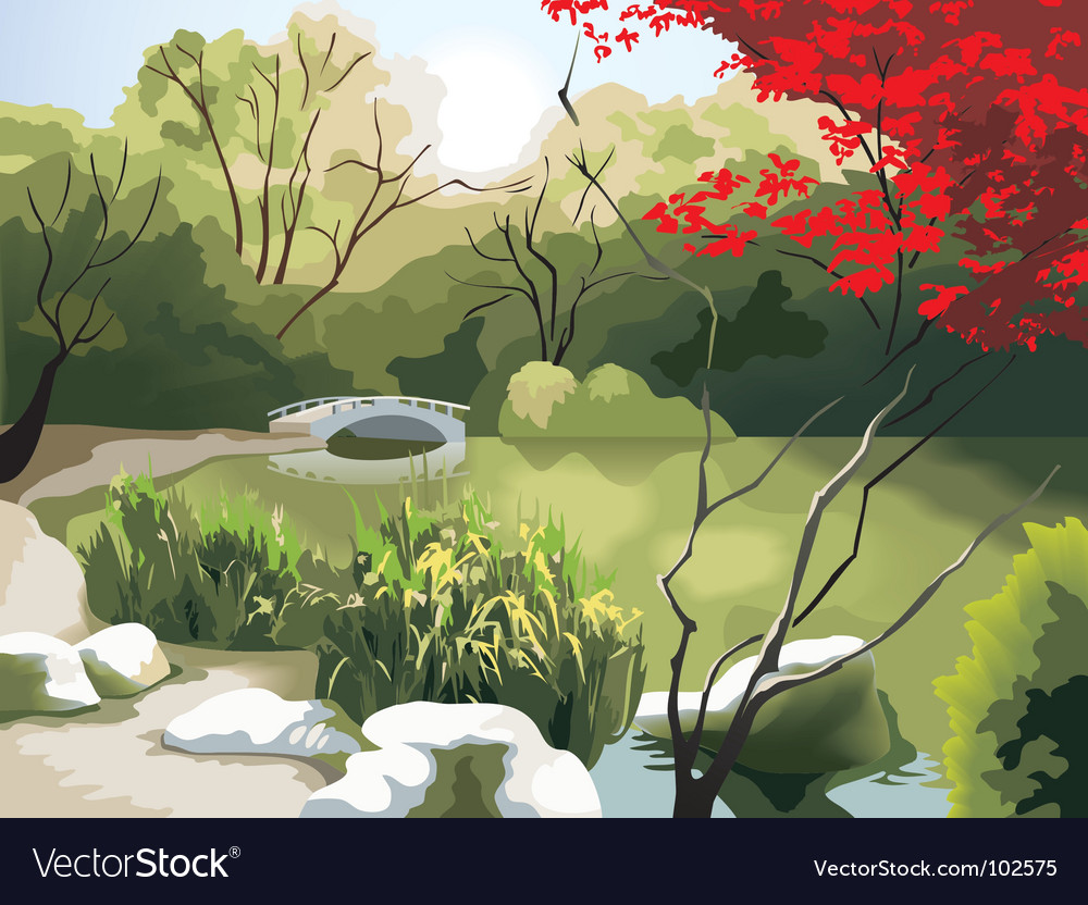 Chinese landscape vector | Price: 3 Credit (USD $3)