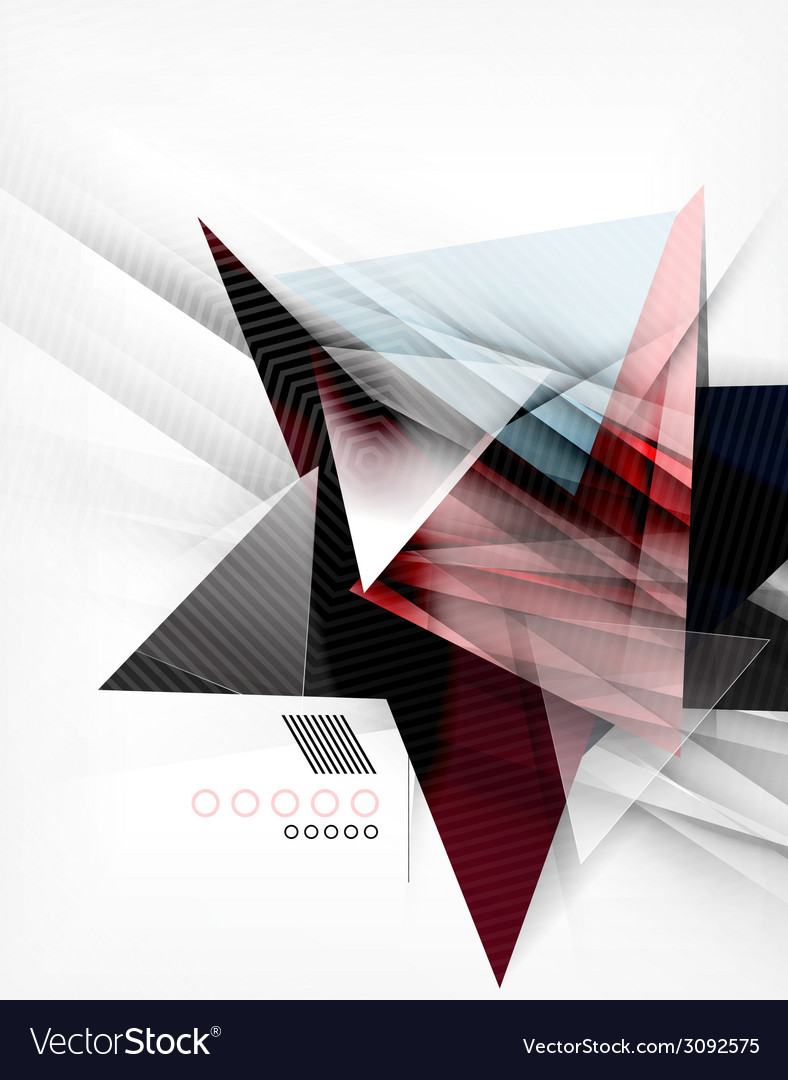 Color triangles unusual abstract background vector | Price: 1 Credit (USD $1)