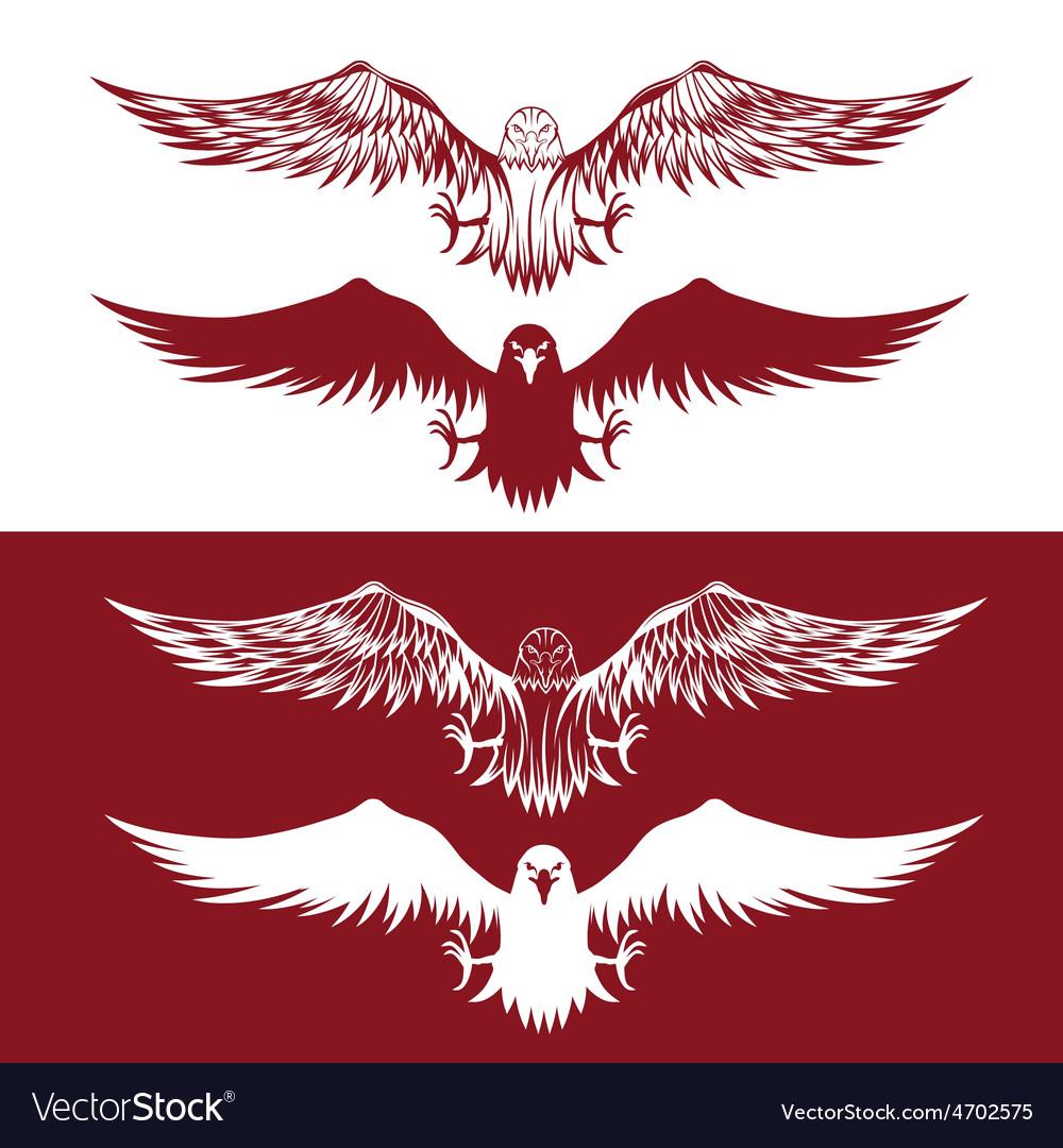 Eagles set design template vector | Price: 3 Credit (USD $3)