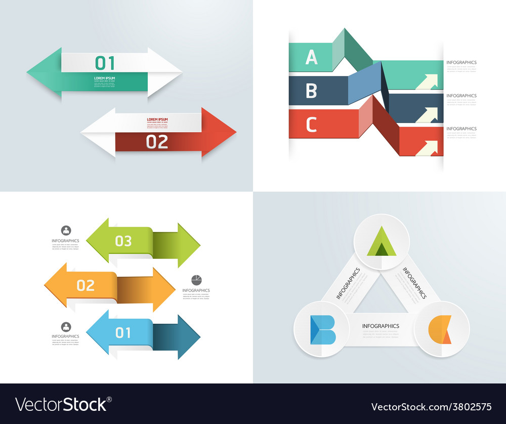 Modern design elements infographic template vector | Price: 1 Credit (USD $1)