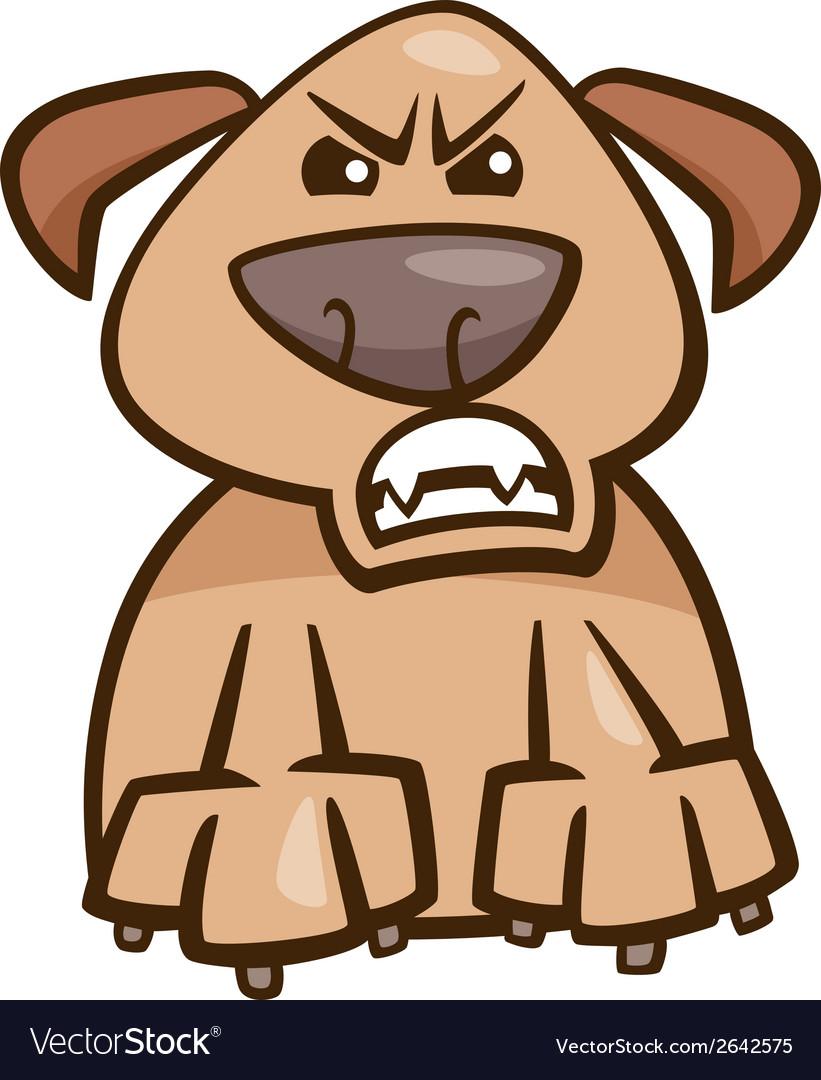 Mood furious dog cartoon vector | Price: 1 Credit (USD $1)