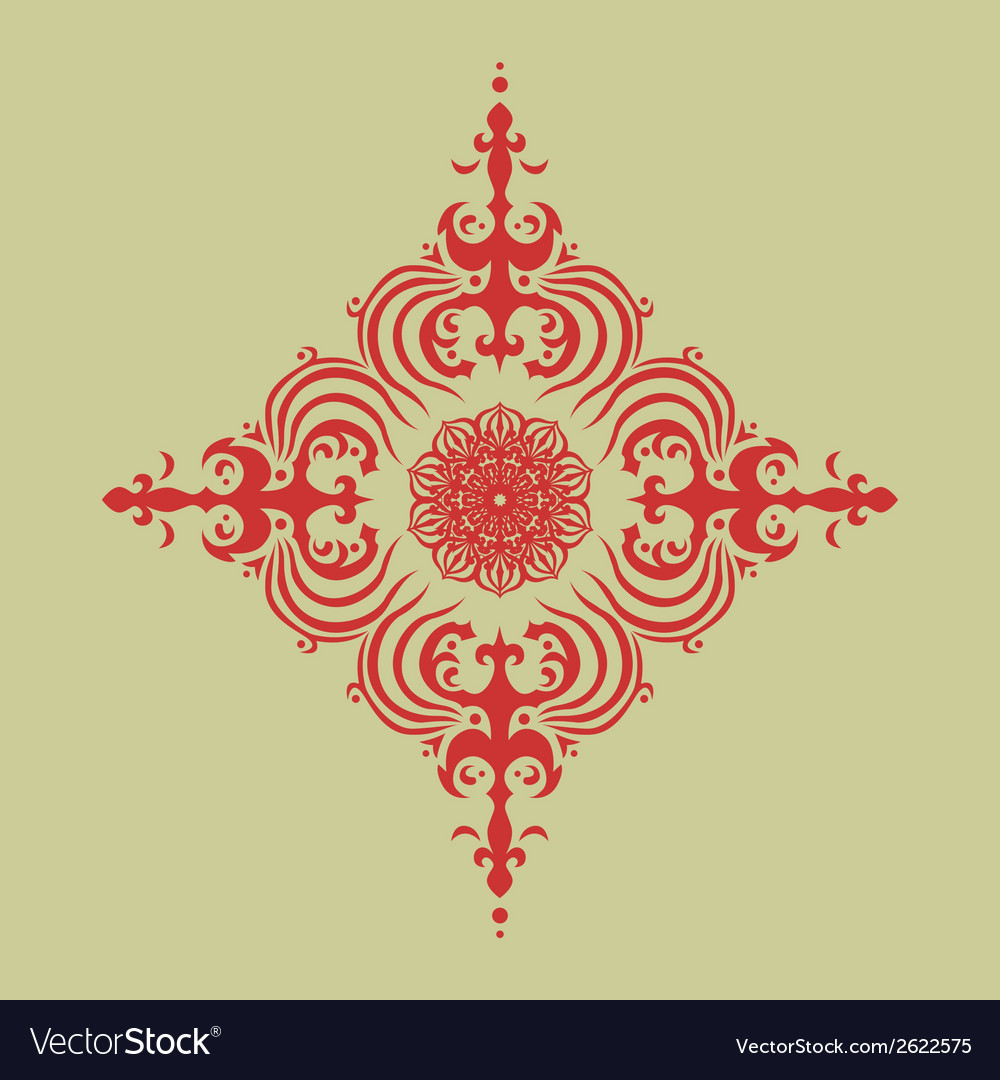 Oriental decor vector | Price: 1 Credit (USD $1)