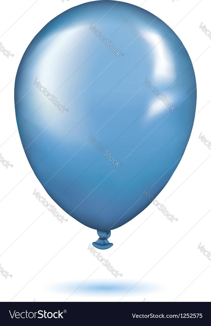 Realistic blue balloon vector | Price: 1 Credit (USD $1)