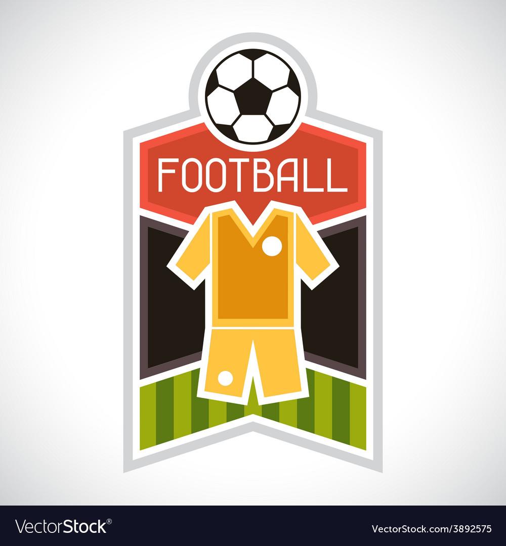 Sports soccer football badge vector | Price: 1 Credit (USD $1)