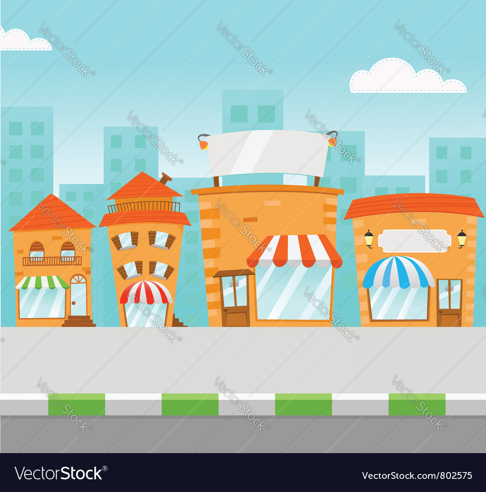 Strip mall vector | Price: 3 Credit (USD $3)