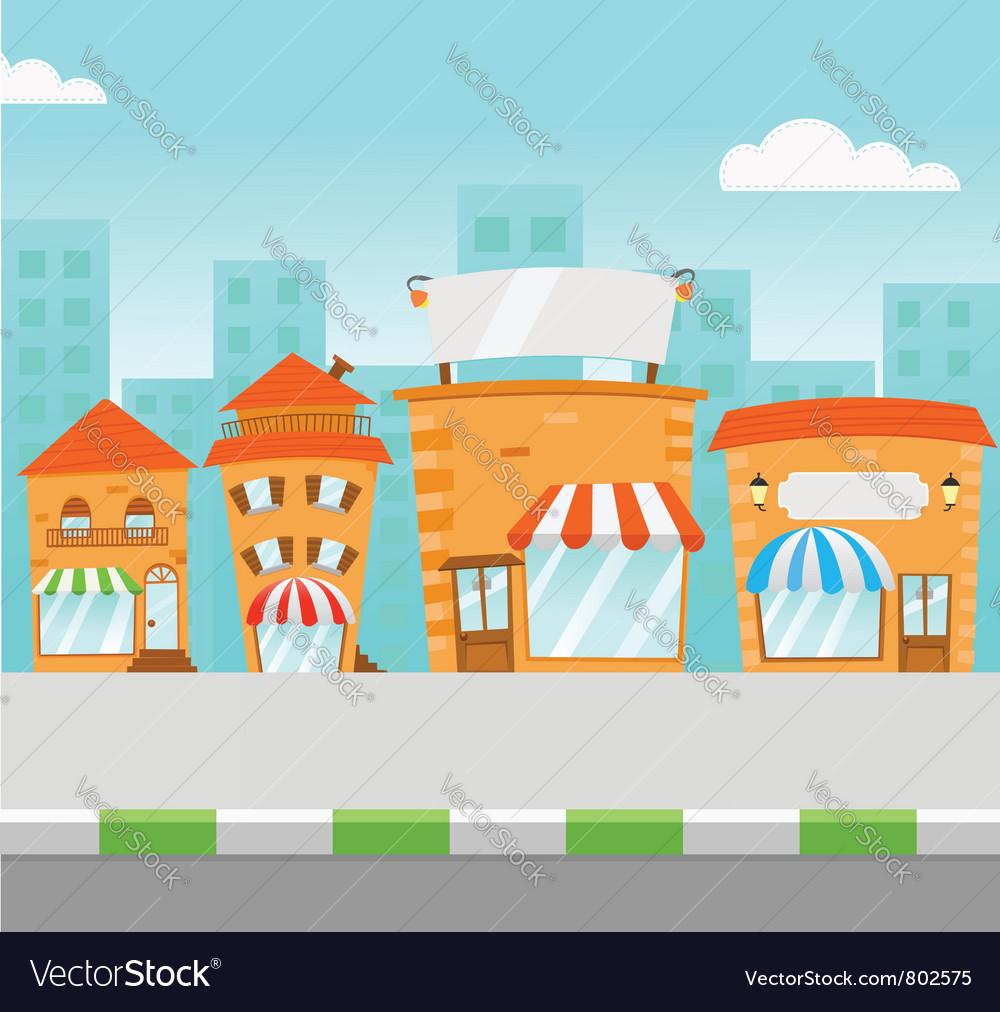 Strip mall vector | Price: 3 Credit (USD $3)
