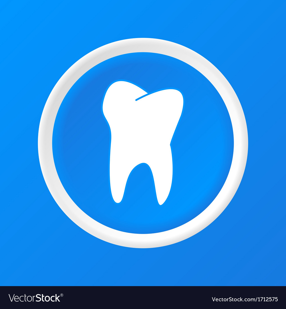 Tooth 3d paper icon vector | Price: 1 Credit (USD $1)