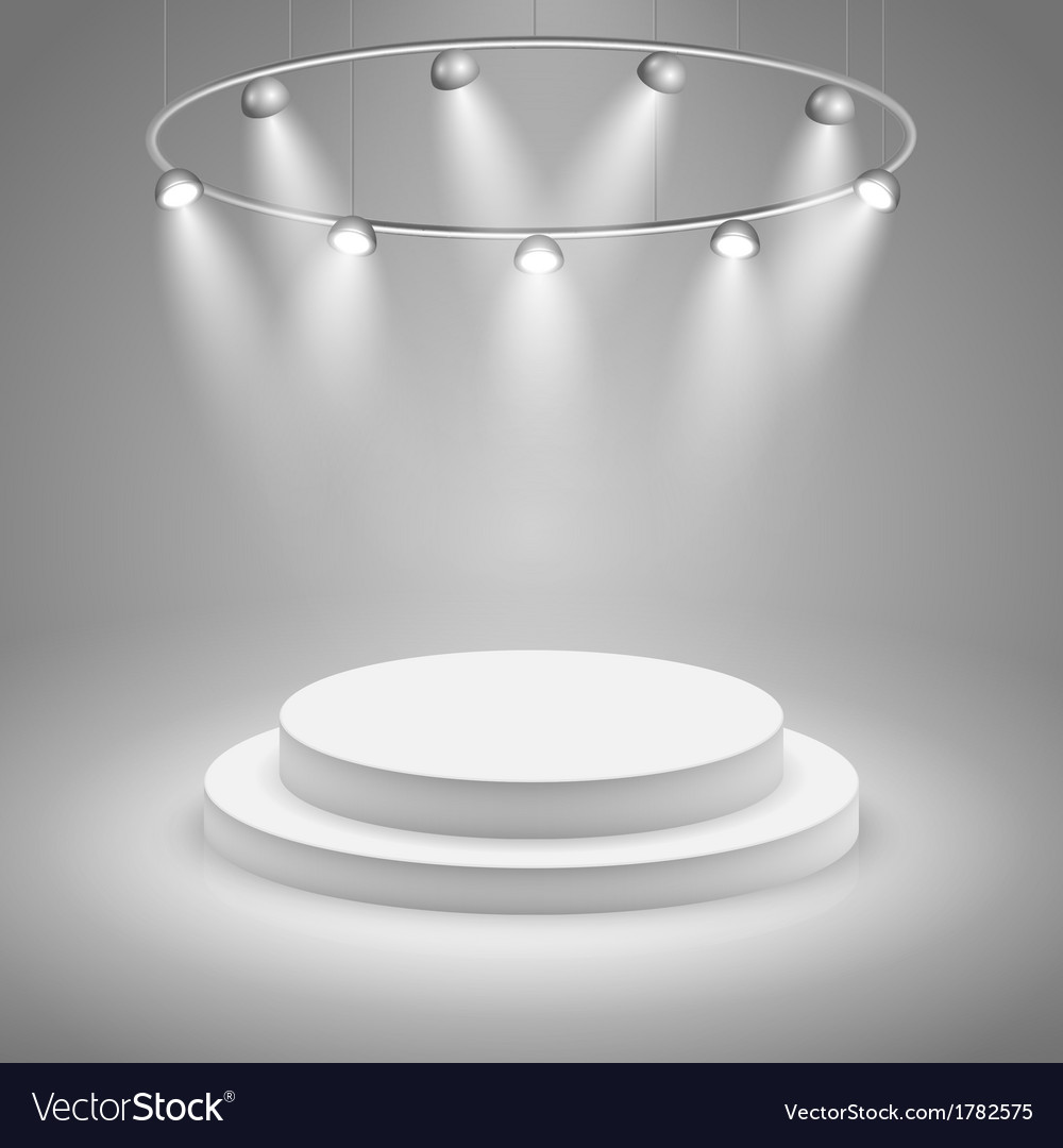 White stage with spotlight vector | Price: 1 Credit (USD $1)