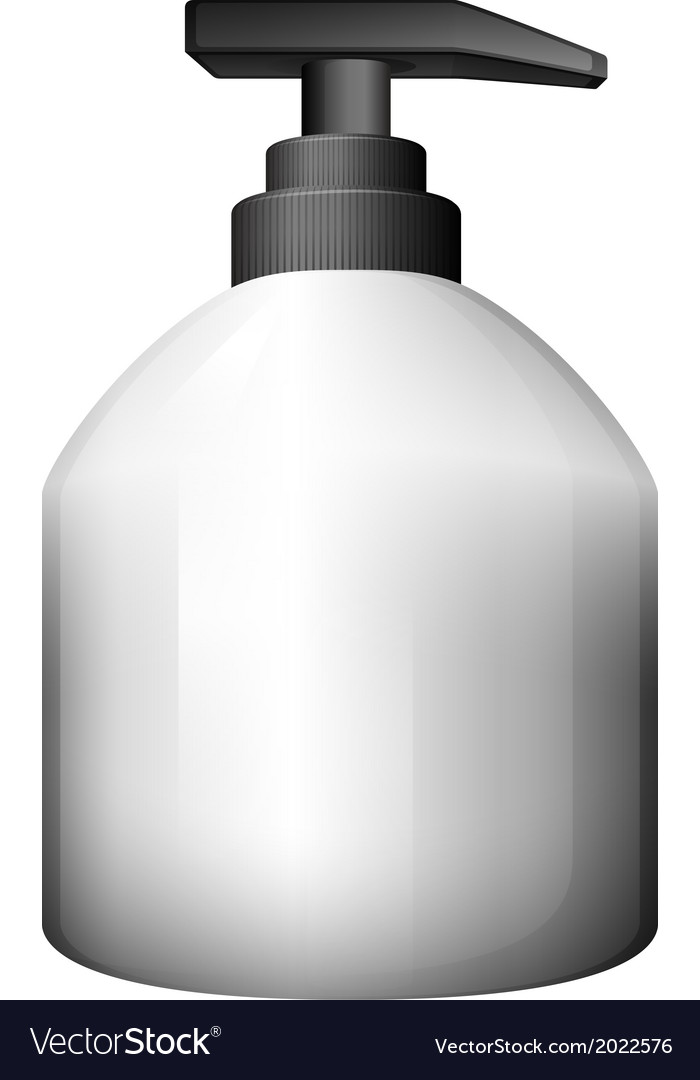 A gray pumping bottle vector | Price: 1 Credit (USD $1)