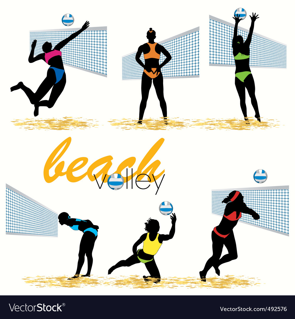 Beach volley vector | Price: 1 Credit (USD $1)