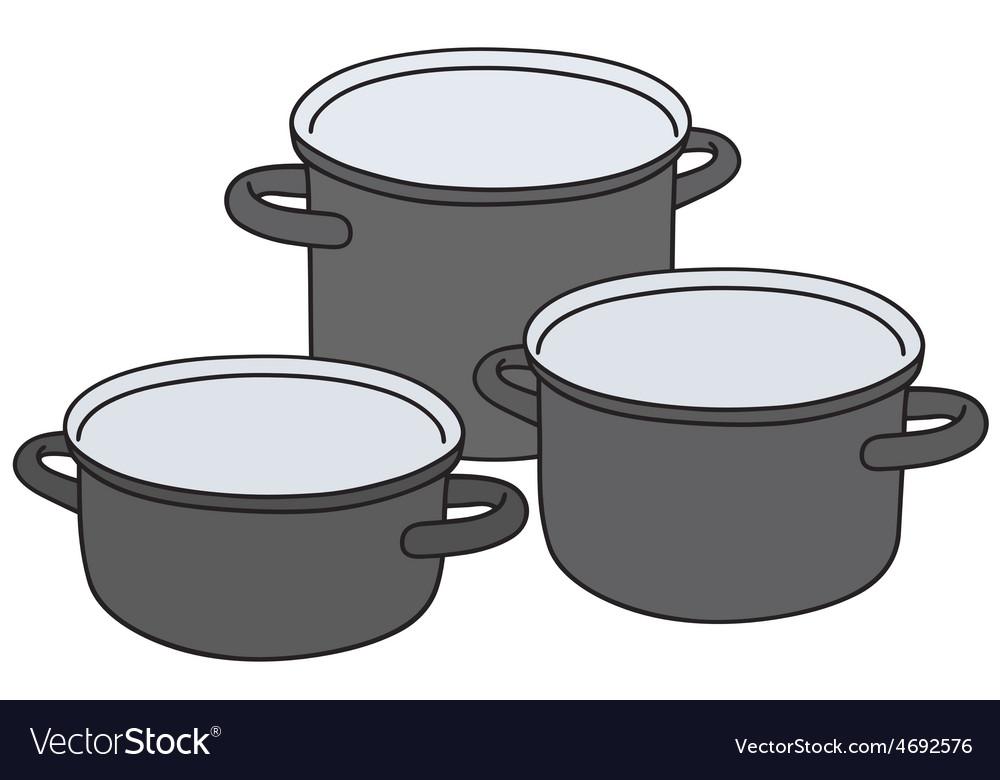 Black pots vector   Price: 1 Credit (USD $1)