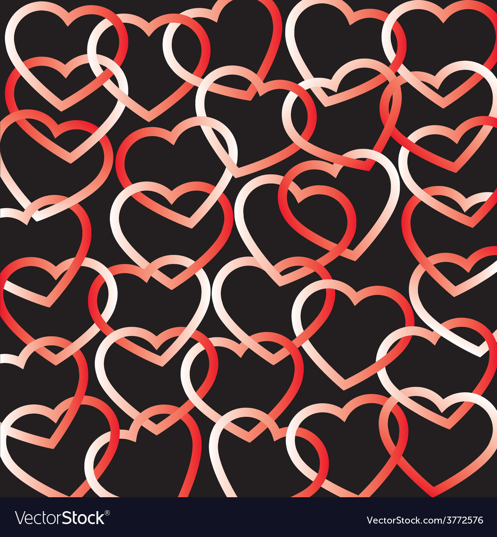Hearts connected background vector | Price: 1 Credit (USD $1)