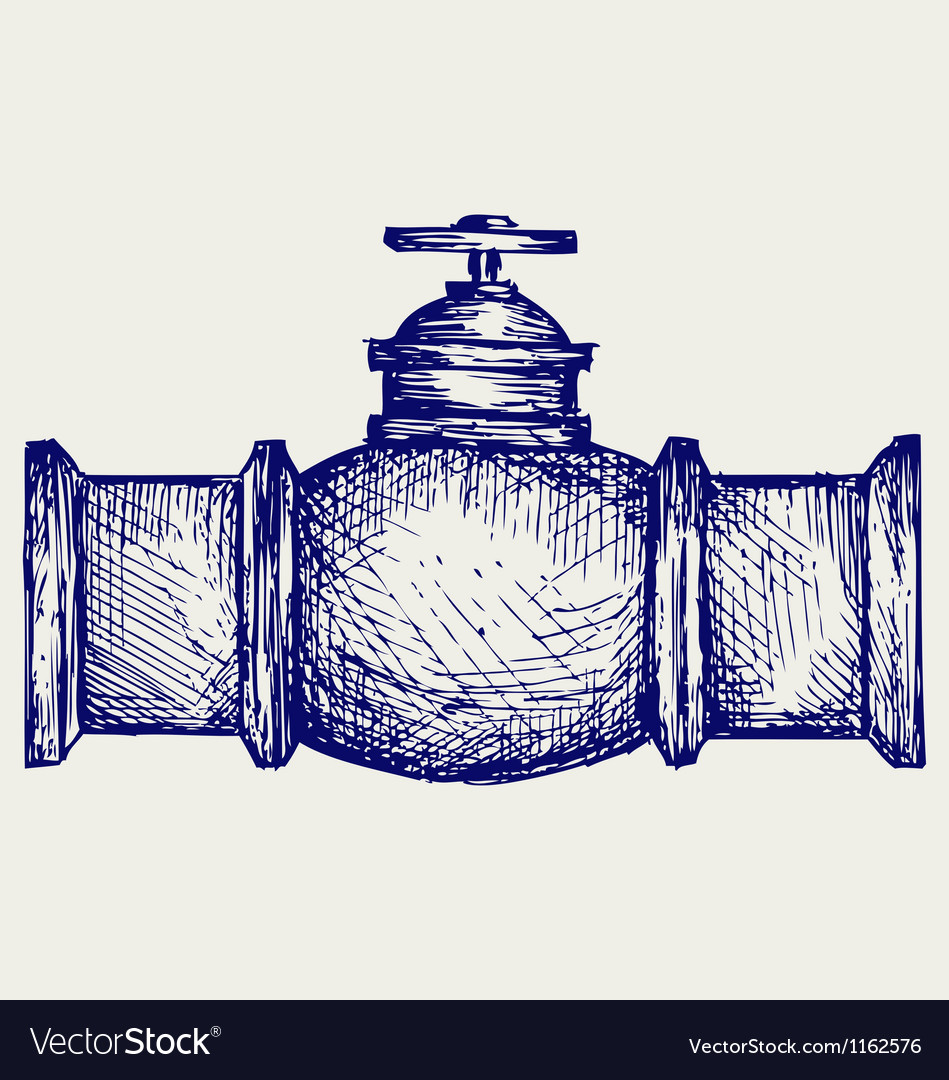 Industrial pipeline part vector | Price: 1 Credit (USD $1)