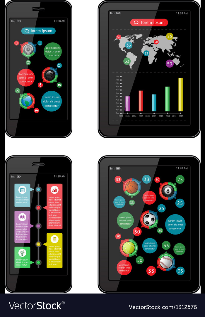 Isolated gadgets with design elements vector   Price: 3 Credit (USD $3)