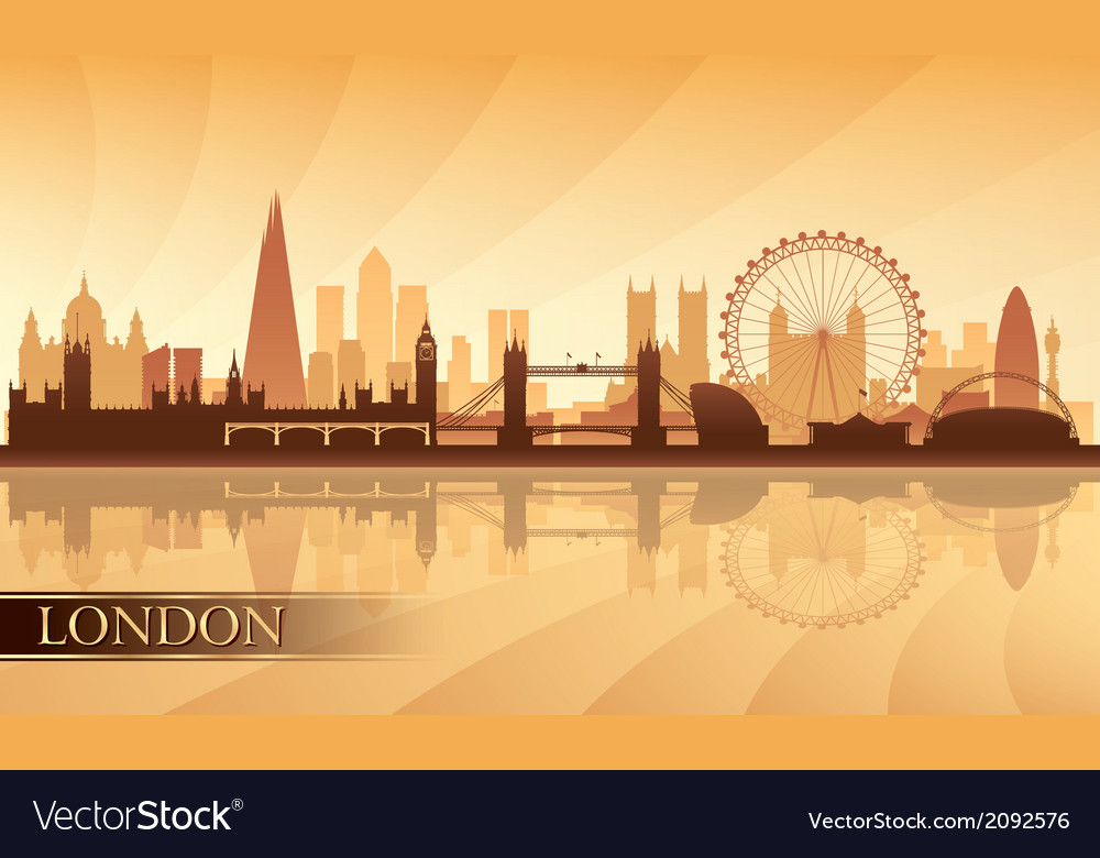 London city skyline silhouette background vector | Price: 1 Credit (USD $1)