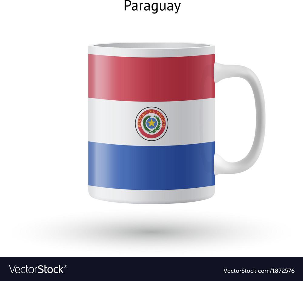 Paraguay flag souvenir mug on white background vector | Price: 1 Credit (USD $1)