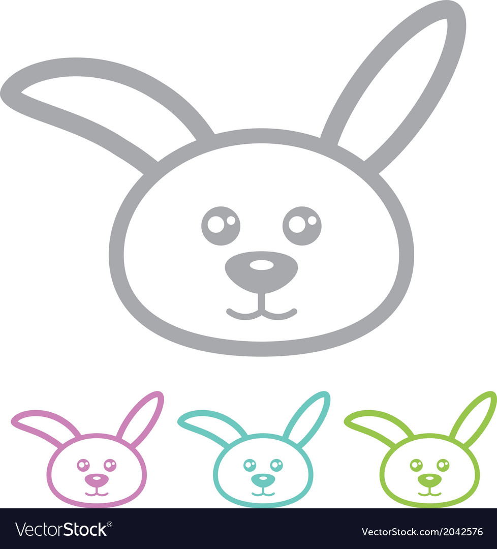 Rabbit bunny vector | Price: 1 Credit (USD $1)