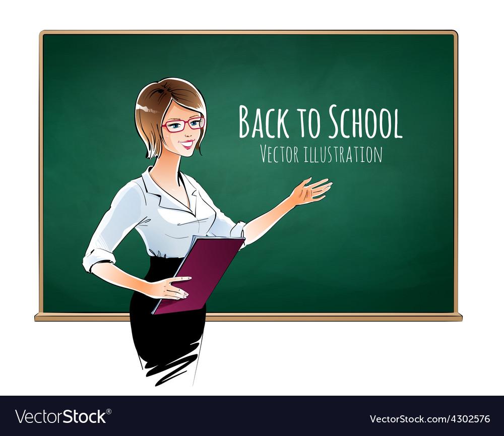 School teacher vector | Price: 1 Credit (USD $1)