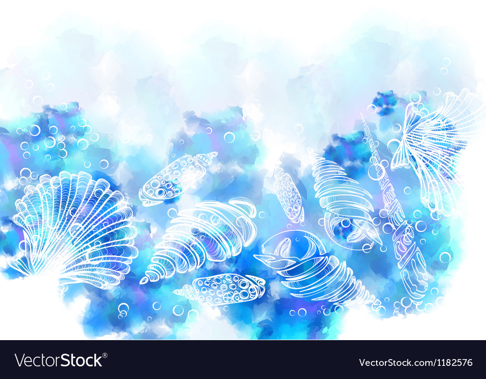 Sea shell background vector   Price: 1 Credit (USD $1)