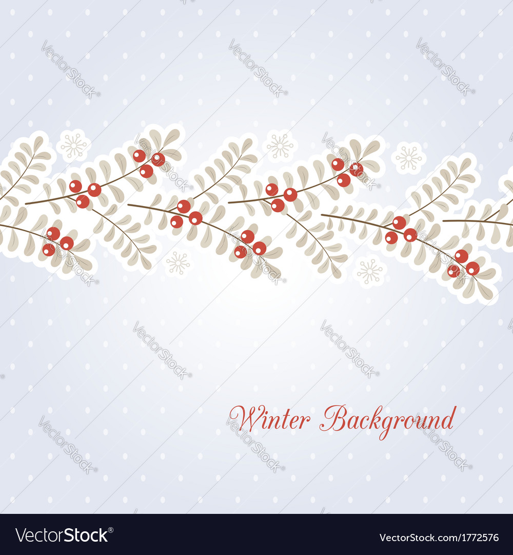 Winter background vector | Price:  Credit (USD $)