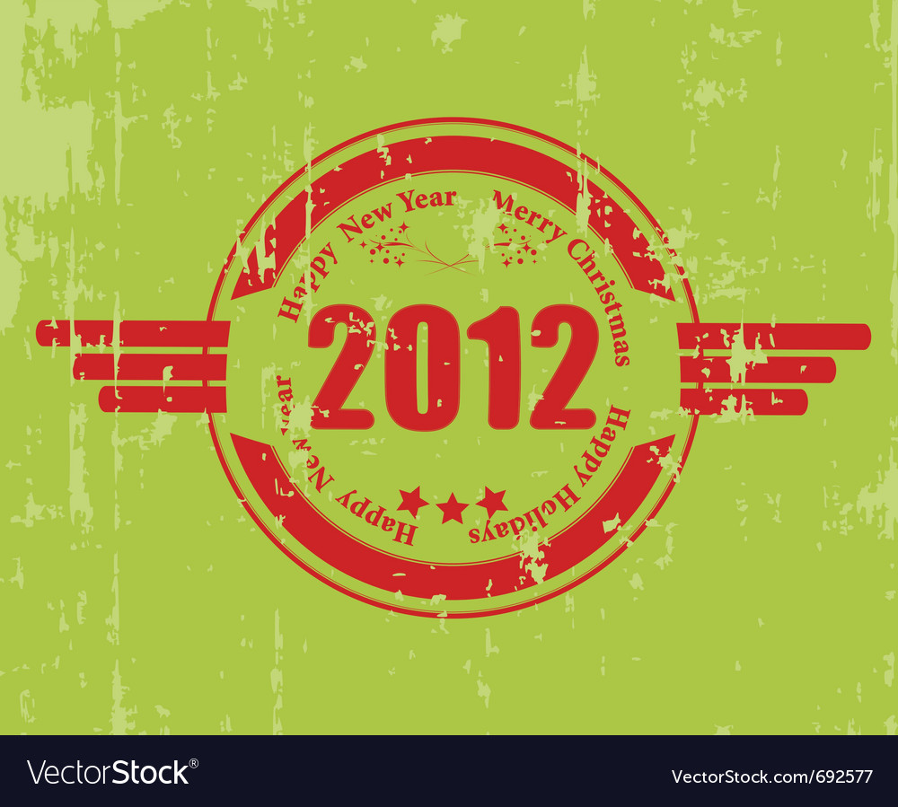 2012 celebration rubber vector | Price: 1 Credit (USD $1)