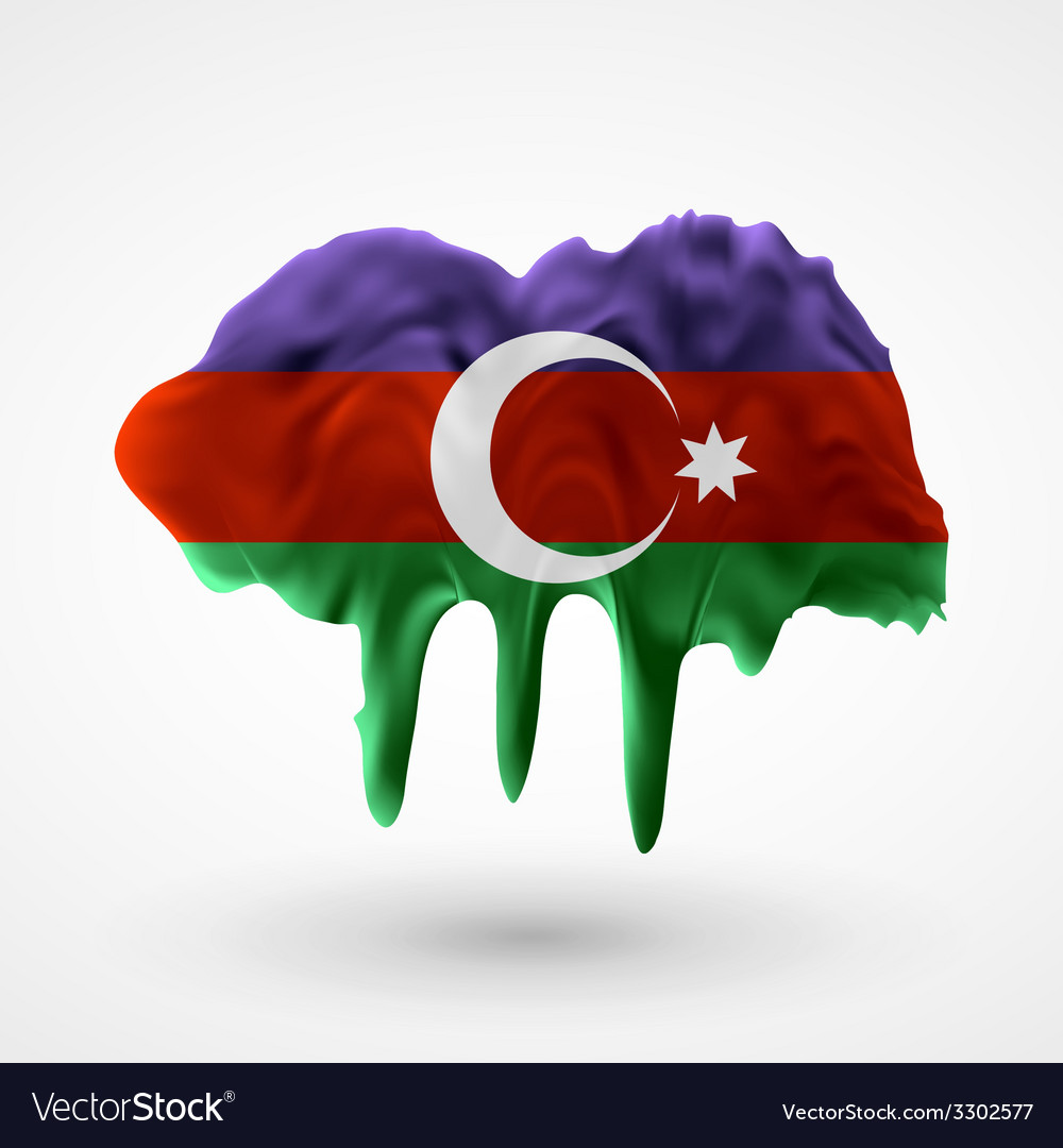 Azerbaijani flag painted colors vector | Price: 1 Credit (USD $1)