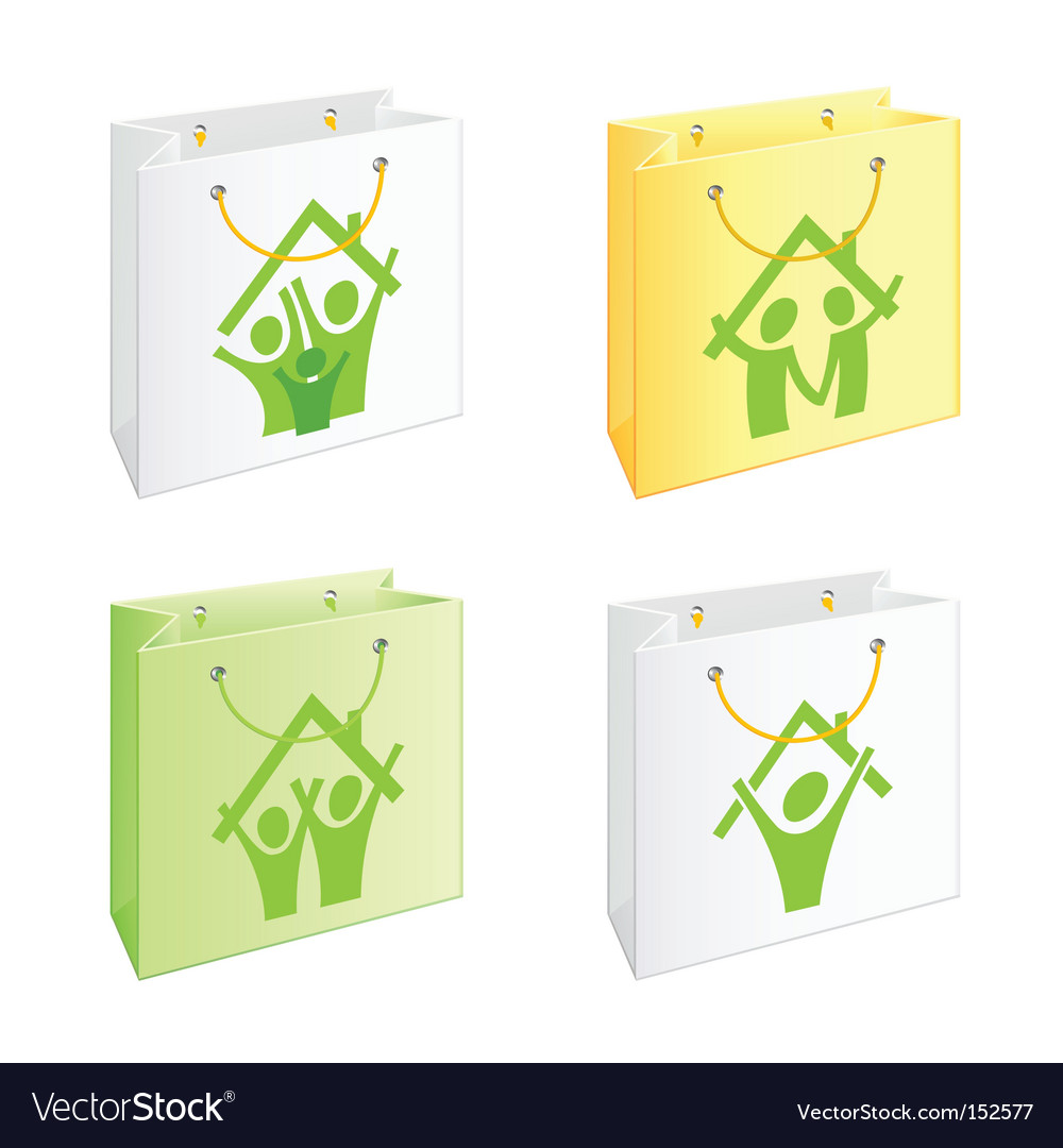 Bags with pictograms vector | Price: 1 Credit (USD $1)