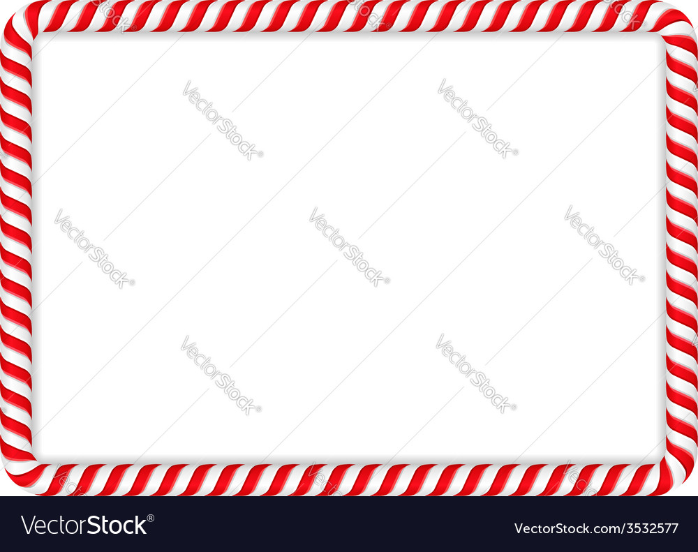 Candy cane frame vector | Price: 1 Credit (USD $1)