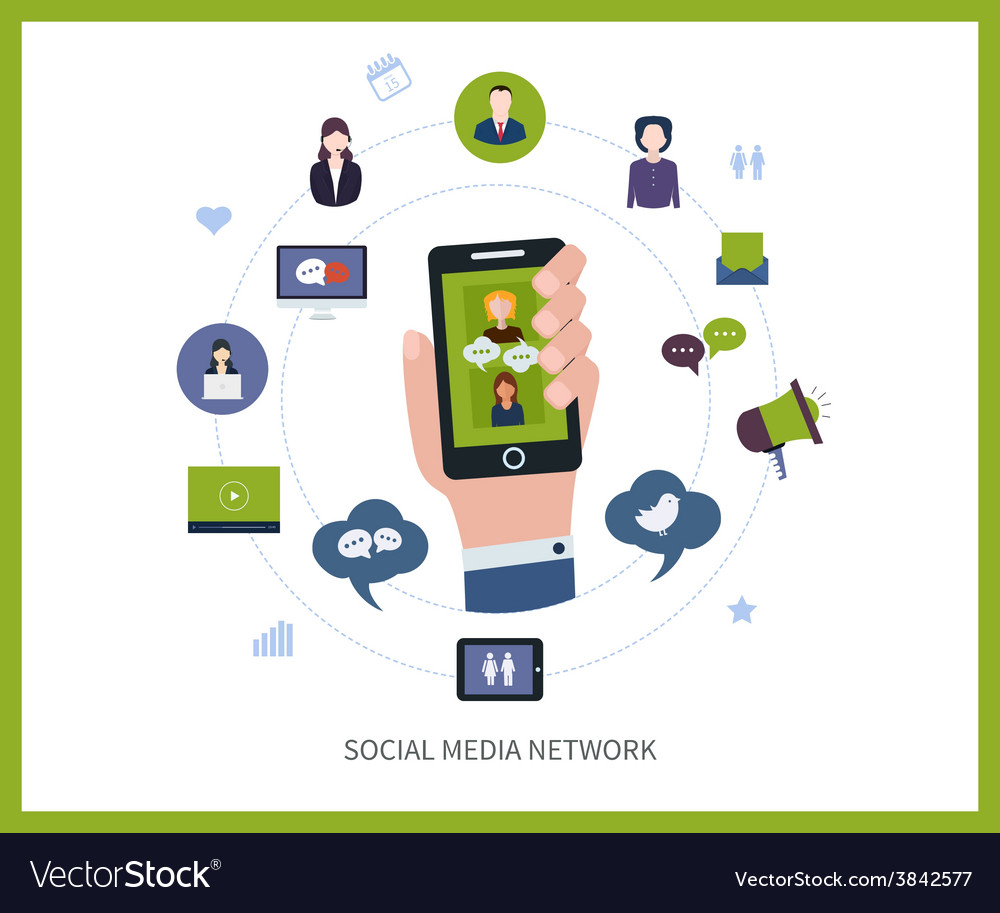 Communication and social media vector | Price: 1 Credit (USD $1)