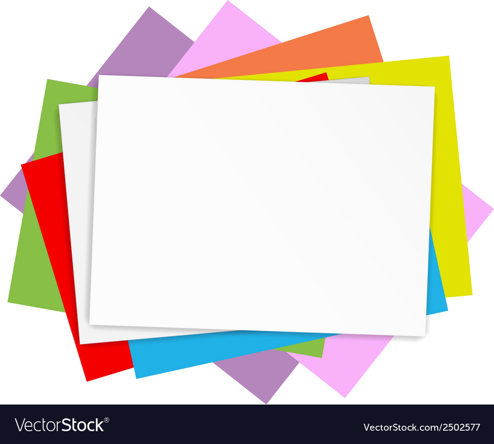 Empty colored papers vector | Price: 1 Credit (USD $1)
