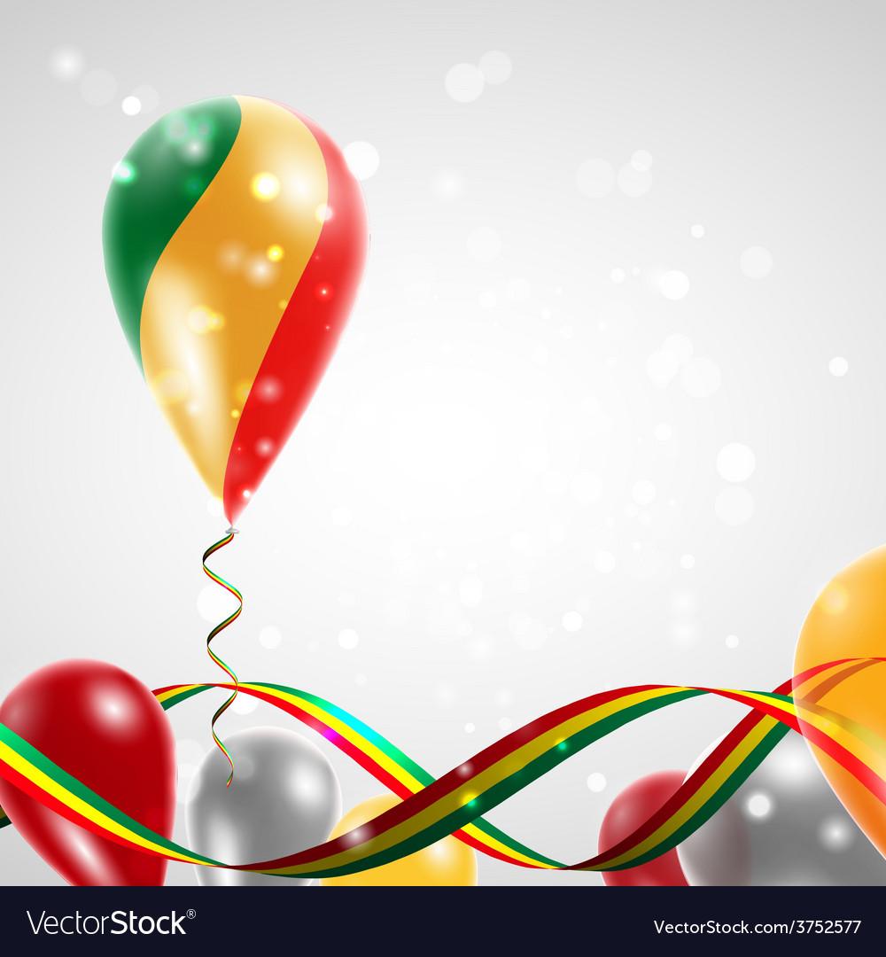 Flag republic of congo on balloon vector | Price: 1 Credit (USD $1)