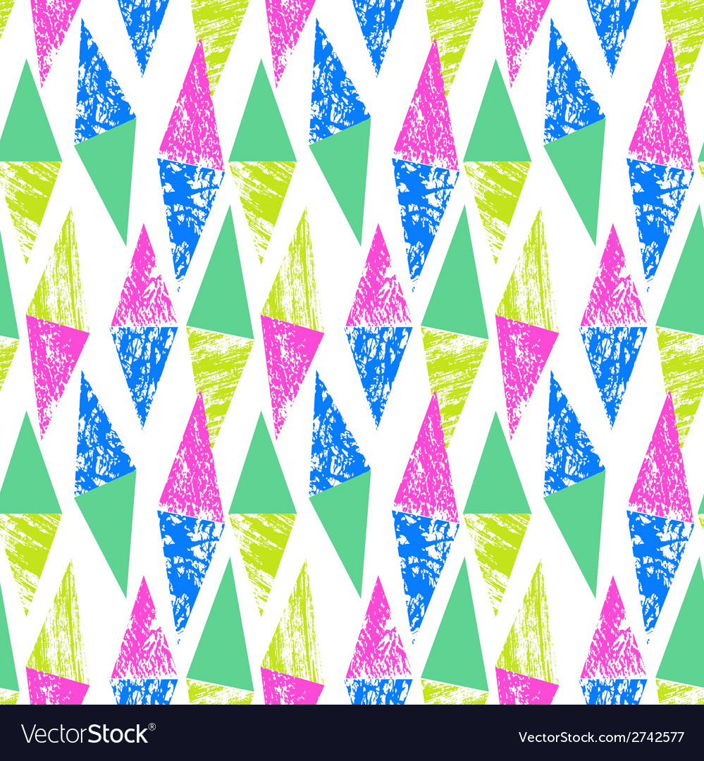 Grunge hand painted pattern with triangles vector | Price: 1 Credit (USD $1)