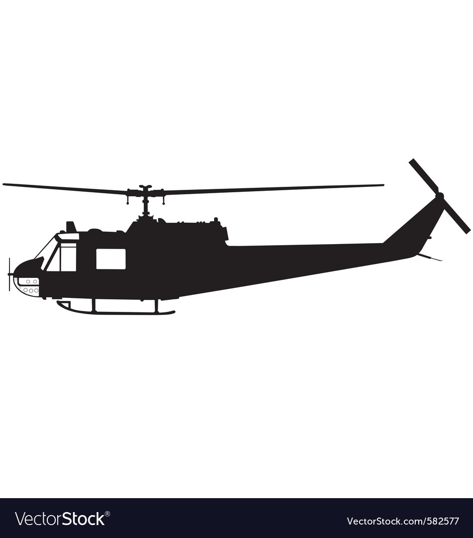 Military helicopter vector | Price: 1 Credit (USD $1)
