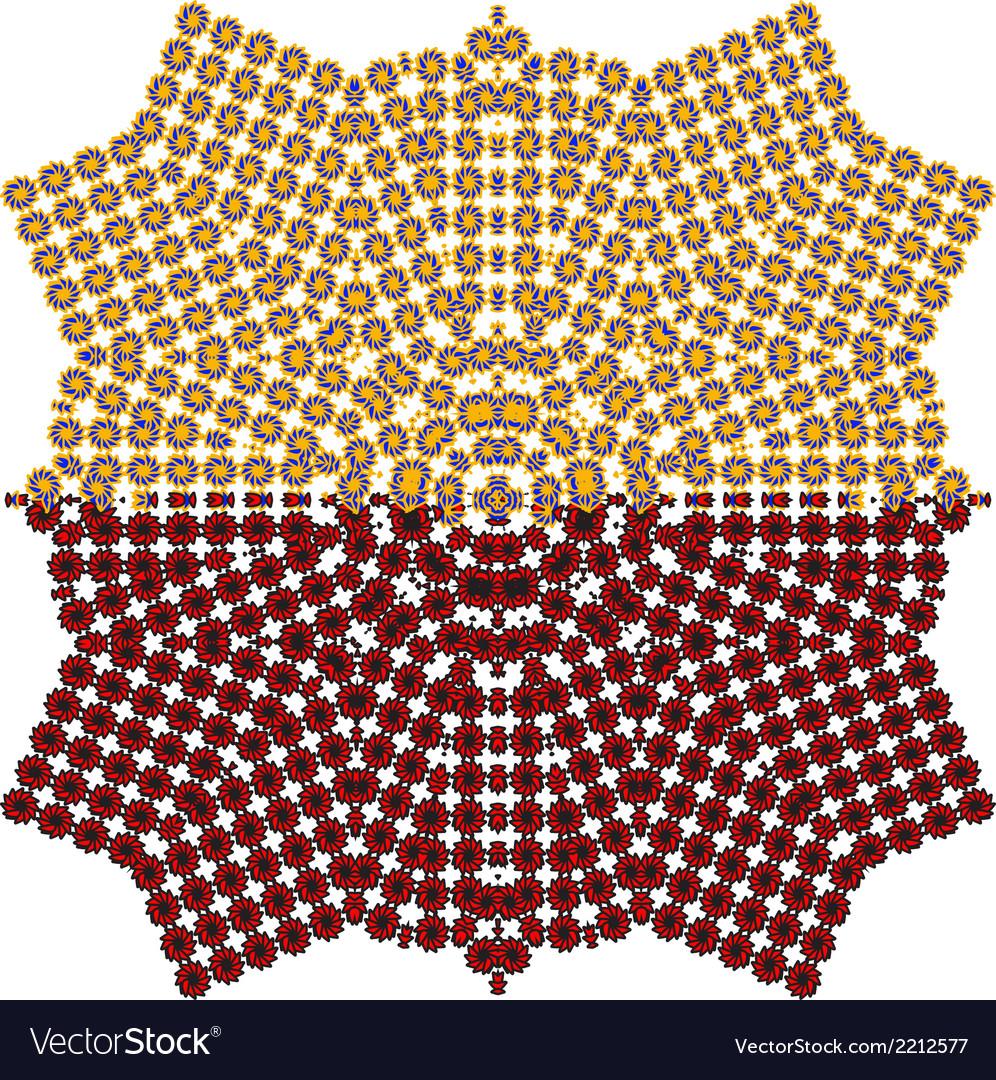 Seamless flower pattern background vector