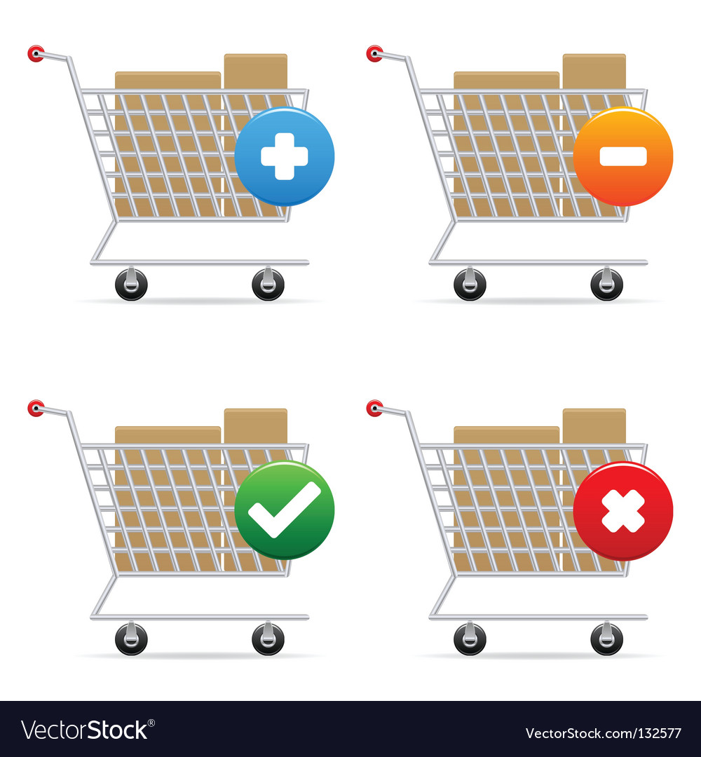 Shopping carts icons vector | Price: 1 Credit (USD $1)