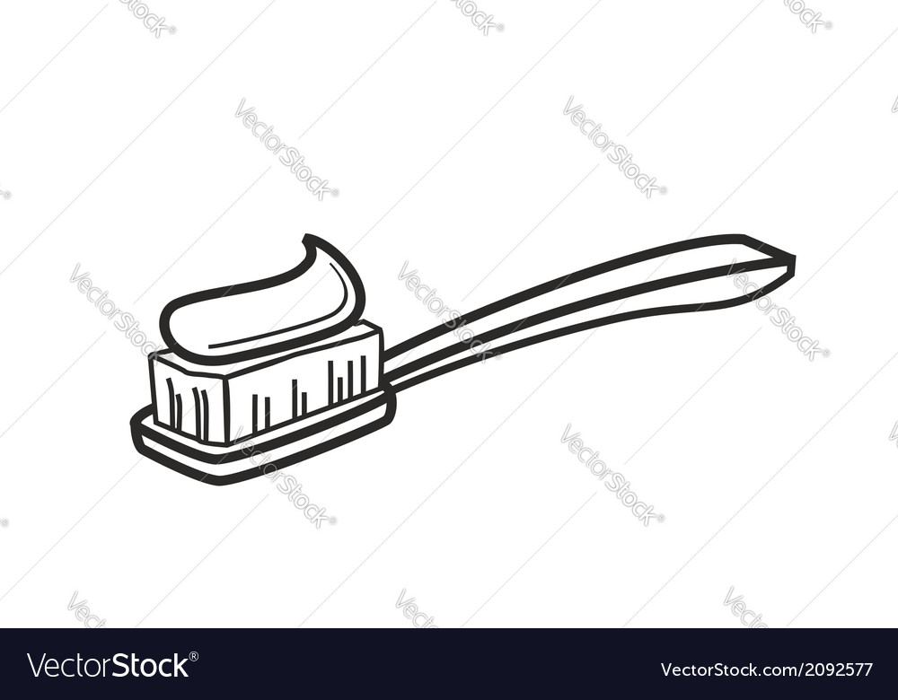 Toothbrush icon vector | Price: 1 Credit (USD $1)