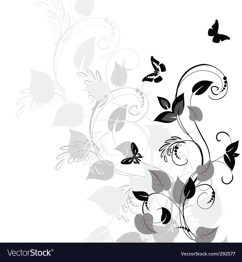 Vegetation pattern vector | Price: 1 Credit (USD $1)